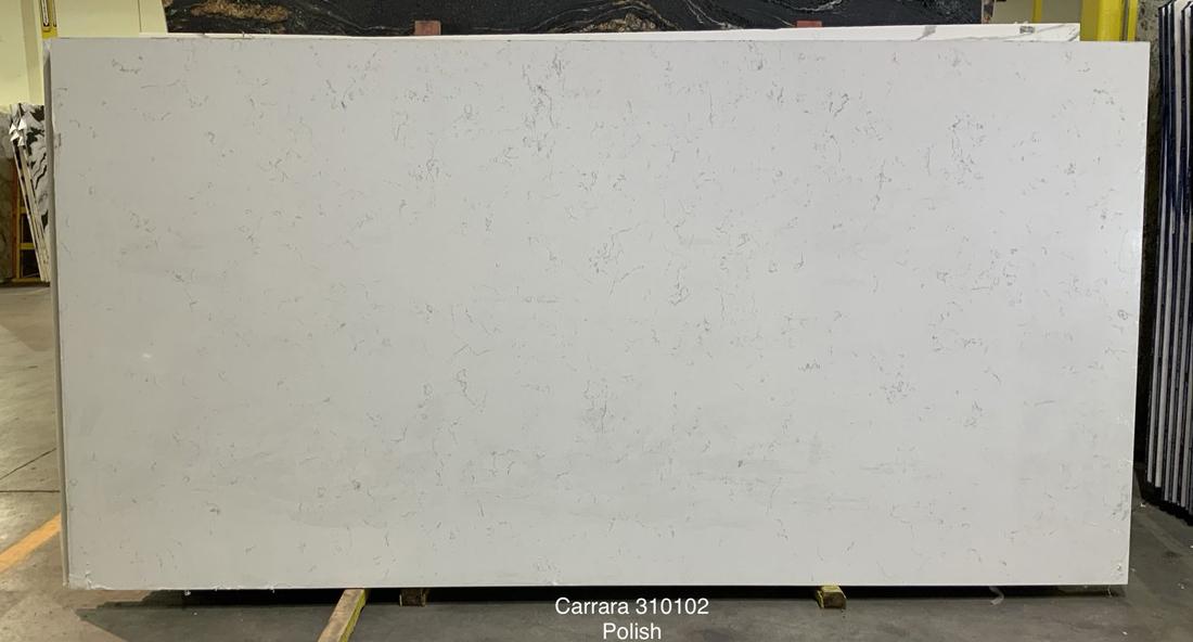 Competitive Carrara White Quartz Slabs for Kitchen Countertops