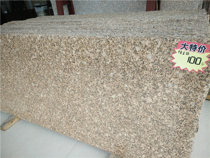 Competitive Carter Gold Diamond Granite Yellow Polished Granite Countertops