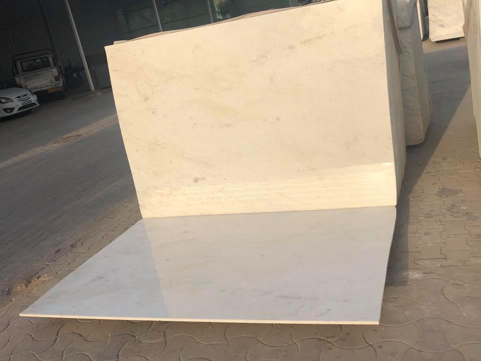 Competitive Milky White Marble Tiles White Stone Flooring Tiles