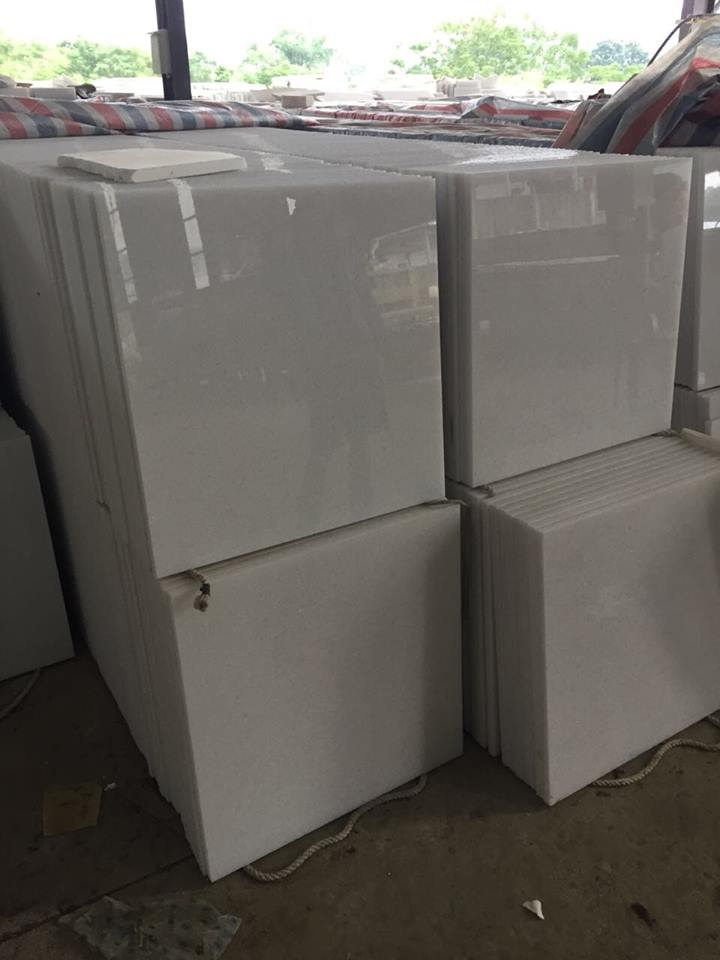 Competitive VietNam White Marble Polished Slabs