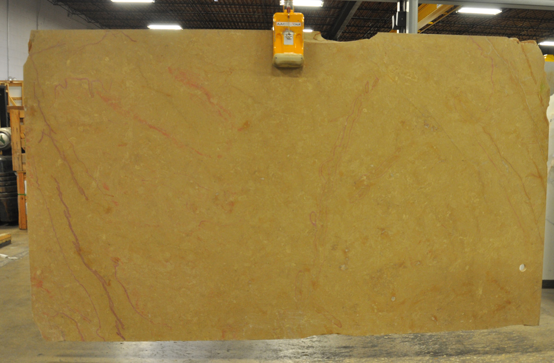 Corton Rouge Brushed Limestone Slabs Yellow Limestone Slabs