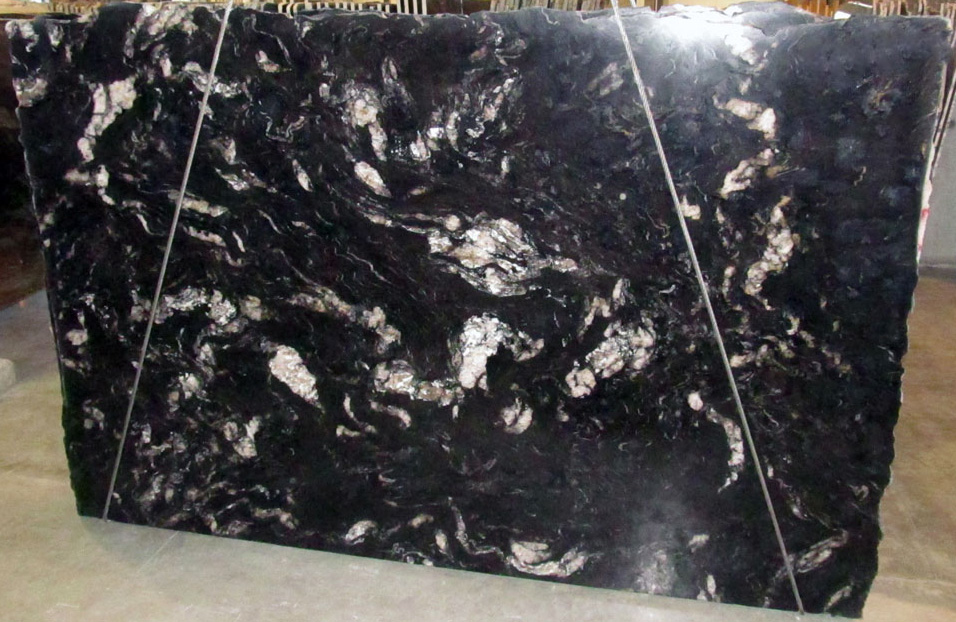 Cosmic Black Granite Slabs Polished Black Granite Slabs