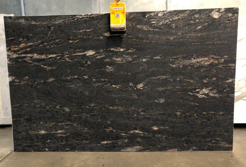 Cosmic Black Granite Slabs Premium Black Granite Stone Slabs for Countertops