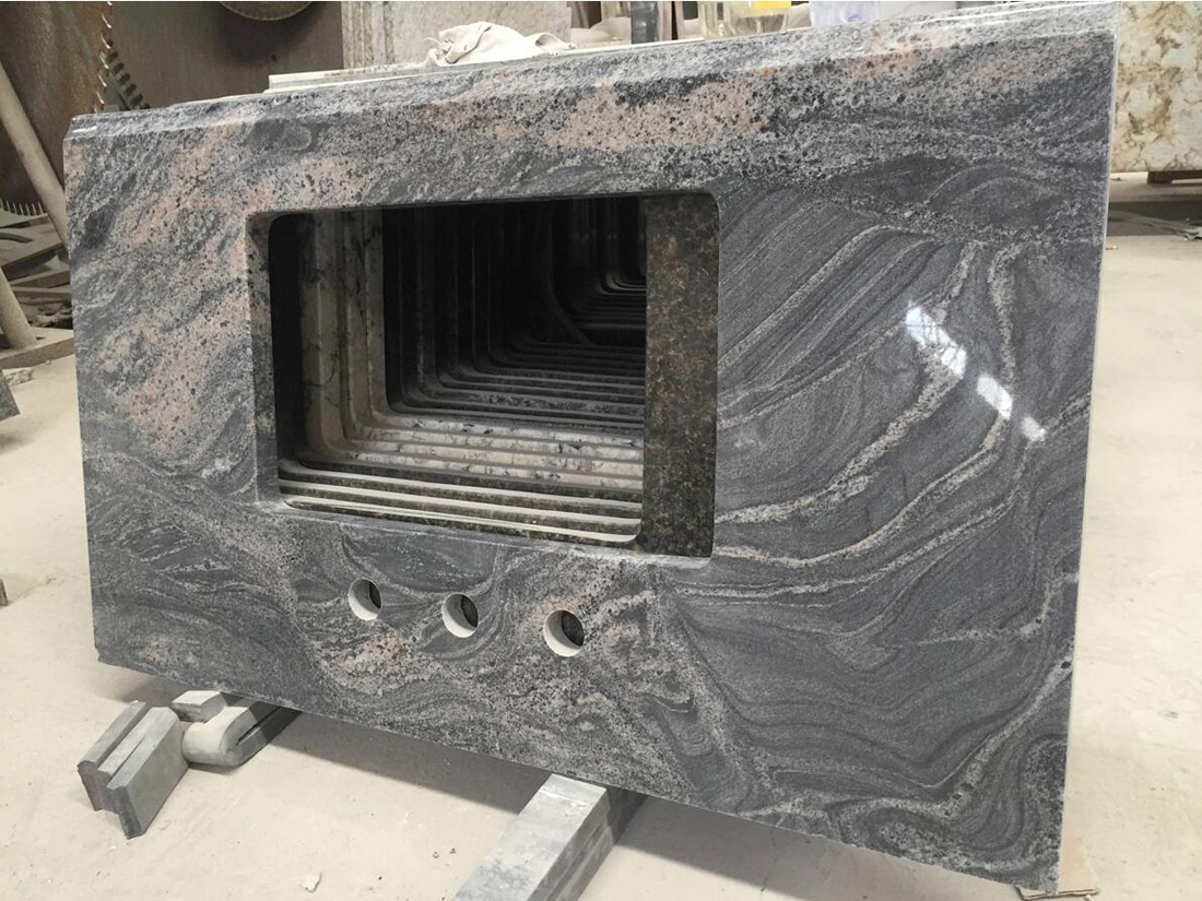 Cosmic Black Polished Granite Bathroom Vanity Tops