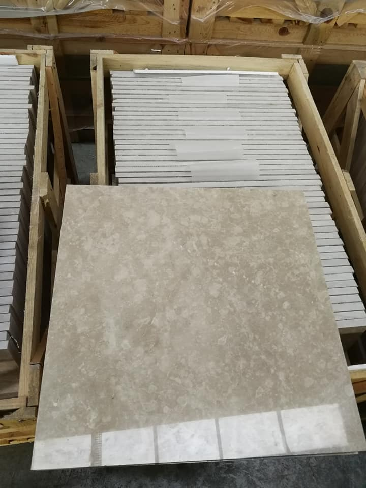 Cosmos Beige Polished Marble Tiles for Flooring