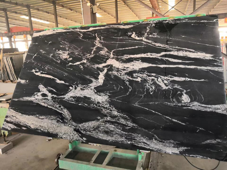 Cosmos Black Granite Slabs Black Polished Granite Slabs