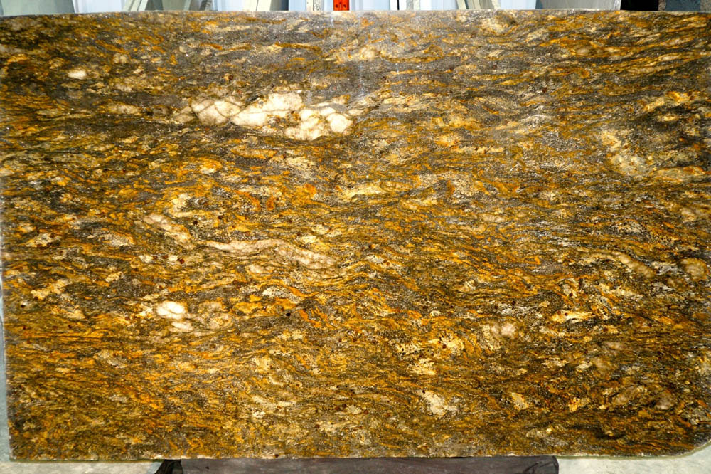 Cosmos Granite Slabs Brazil Yellow Granite Slabs for Countertops
