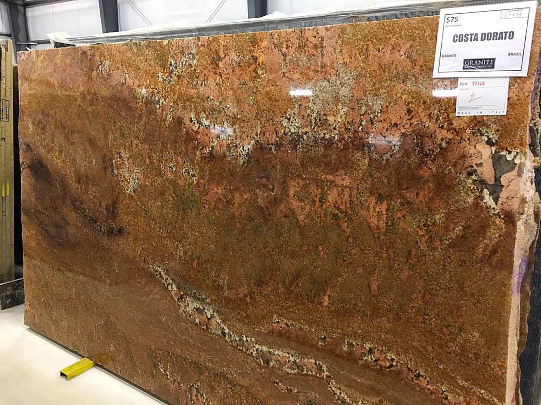 Costa Dorato Granite Polished Brown Granite Slabs