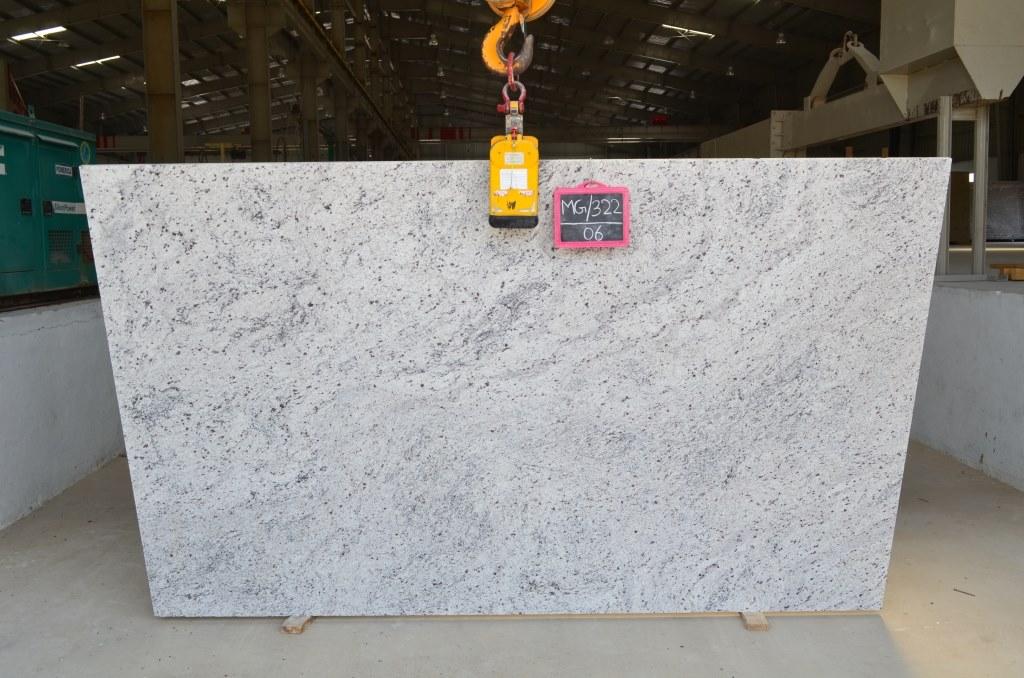 Cotton White Granite Slabs White Polished Indian Granite Slabs