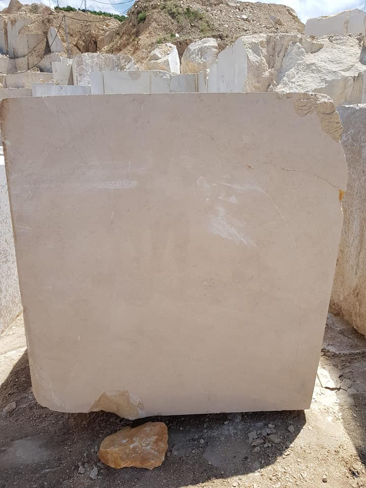 Cream Beige Natural Stone Blocks Beige Marble from Turkey