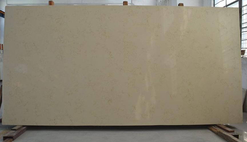 Cream Quartz Slabs Polished Beige Slabs for Countertop