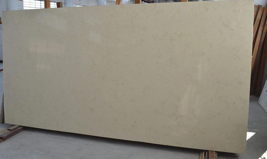 Cream Quartz Slabs Polished Slabs for Countertop