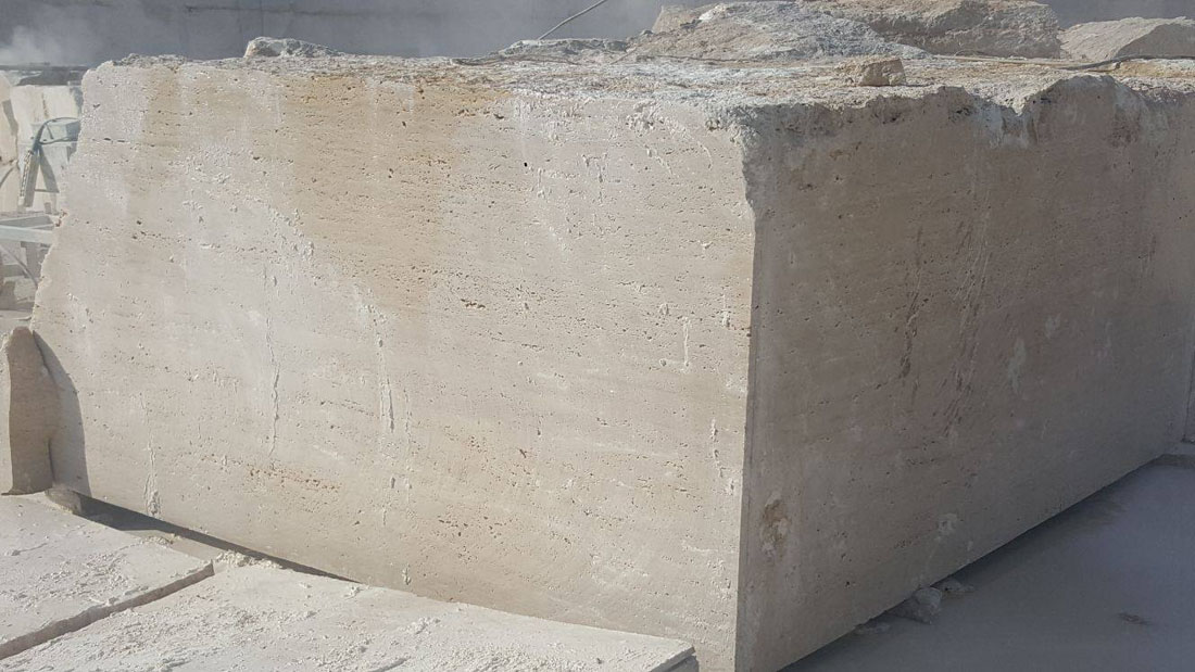 Cream Travertine Natural Travertine Blocks for Export