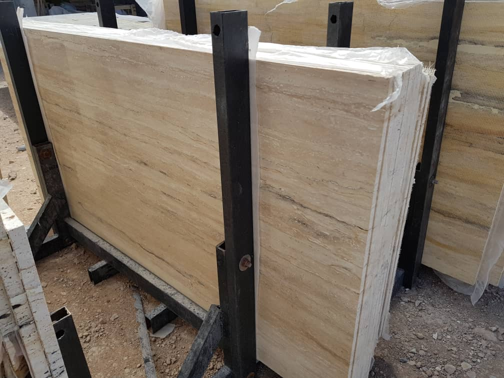 Cream White Travertine Slabs with High Quality