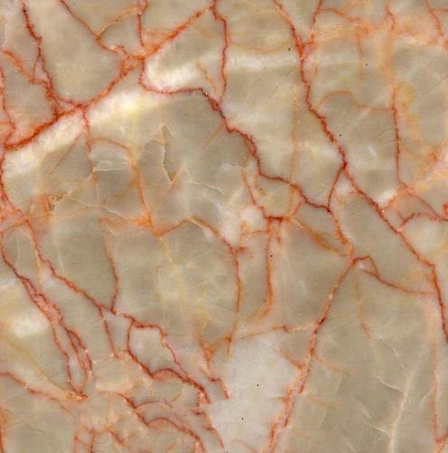Cream Red Marble