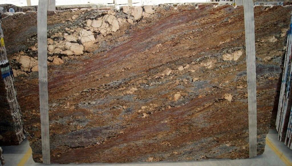 Crema Bordeaux Granite Slabs Brown Granite Stone Slabs for Countertops