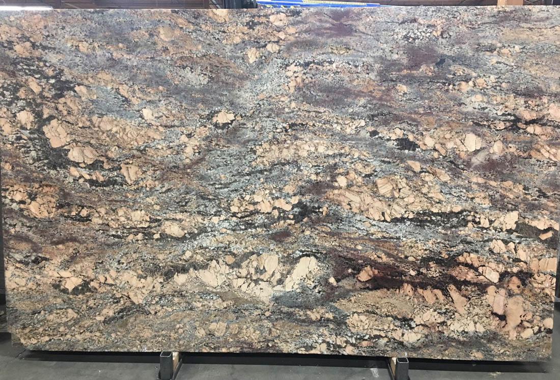 Crema Bordeaux Granite Stone Slabs Polished Brown Granite Slabs