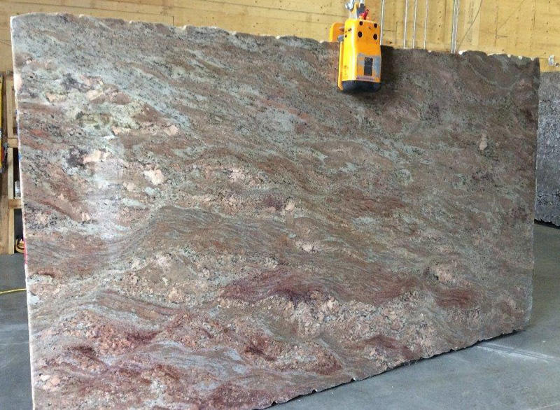 Crema Bordeaux Polished Granite Stone Slabs for Kitchen Countertops