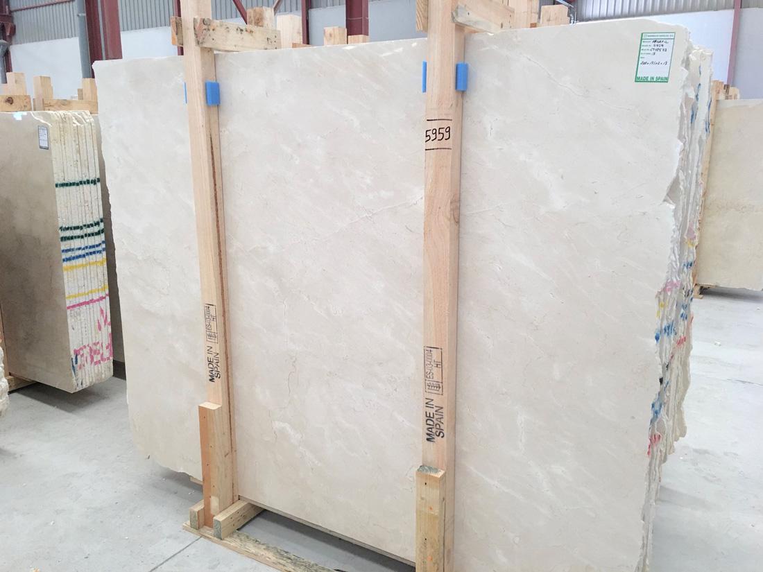 Crema Marfil Beige Polished Marble Slabs