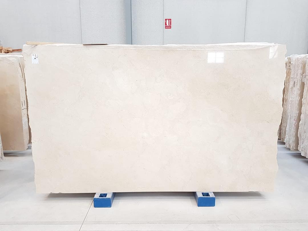 Crema Marfil Polished Beige Marble Slabs from Spain