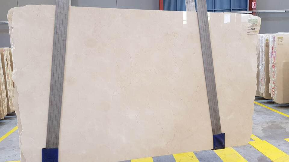 Crema Marfil Polished Beige Marble Slabs