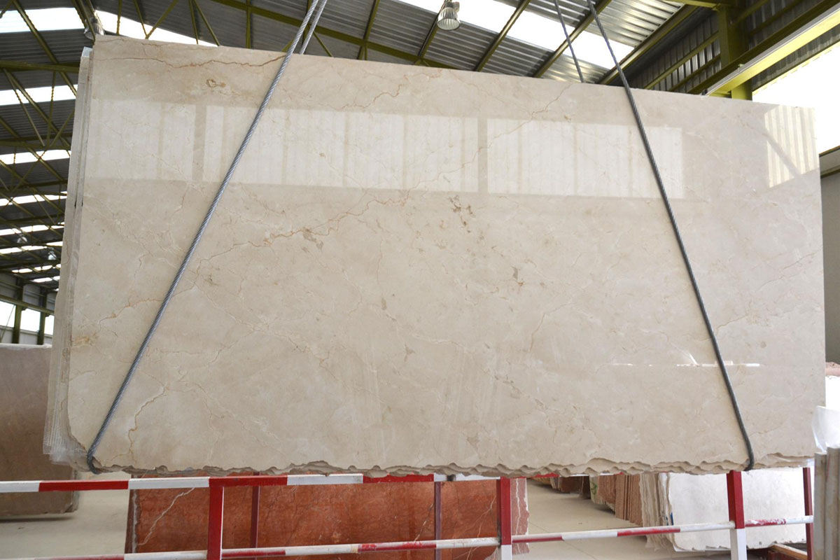 Crema Marfil Standard Polished Slabs