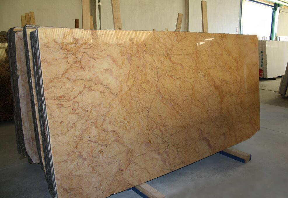Crema Valencia Marble Slabs Polished Yellow Marble Stone Slabs