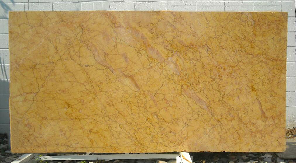 Crema Valencia Spain Polished Yellow Marble Slabs