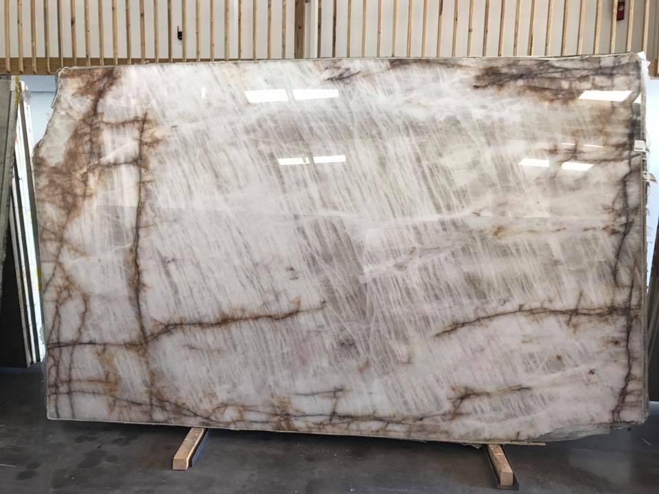 Cristallo Illuminatus Quartzite Slabs White Polished Quartzite Slabs