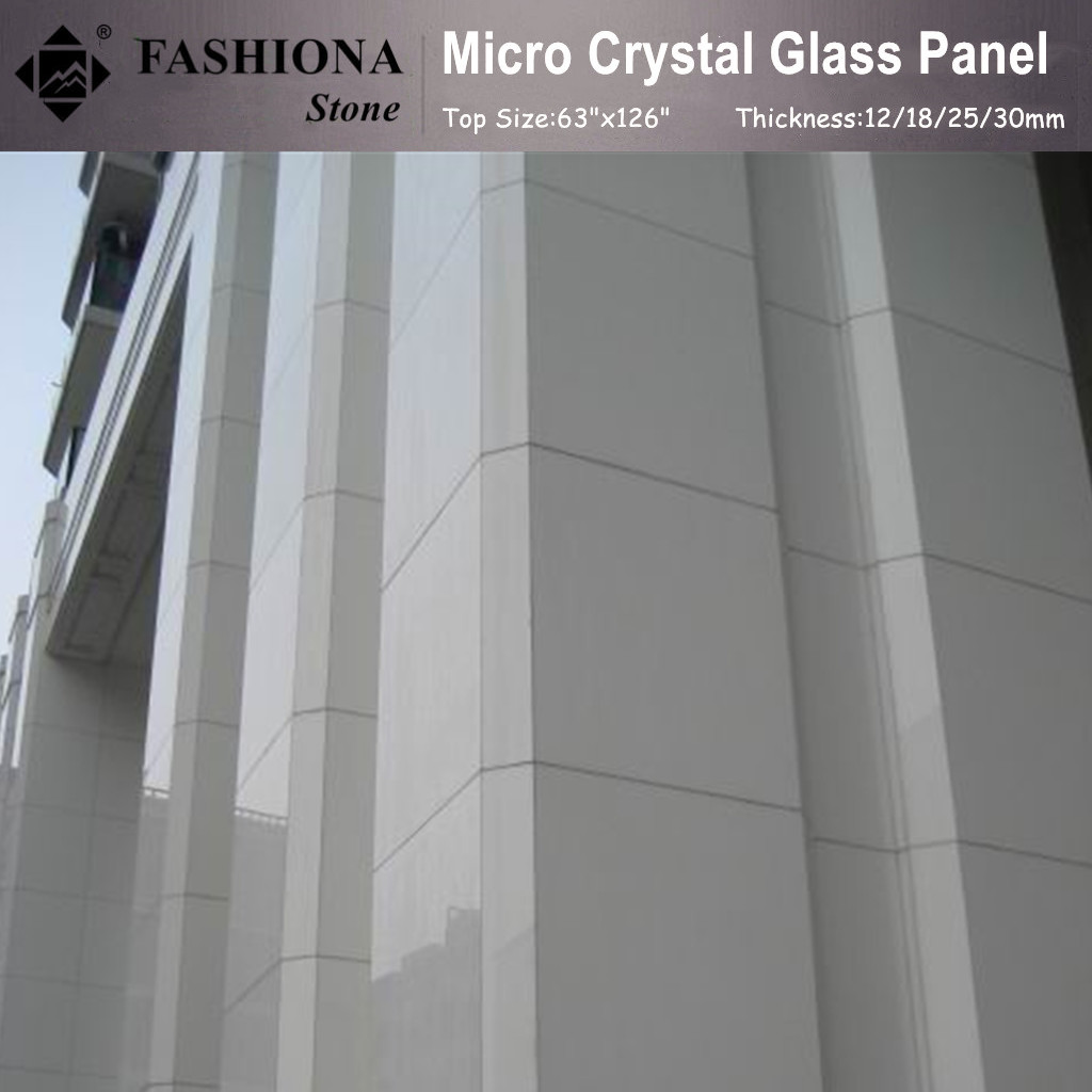Crystal Glass White Artificial Stone Walls