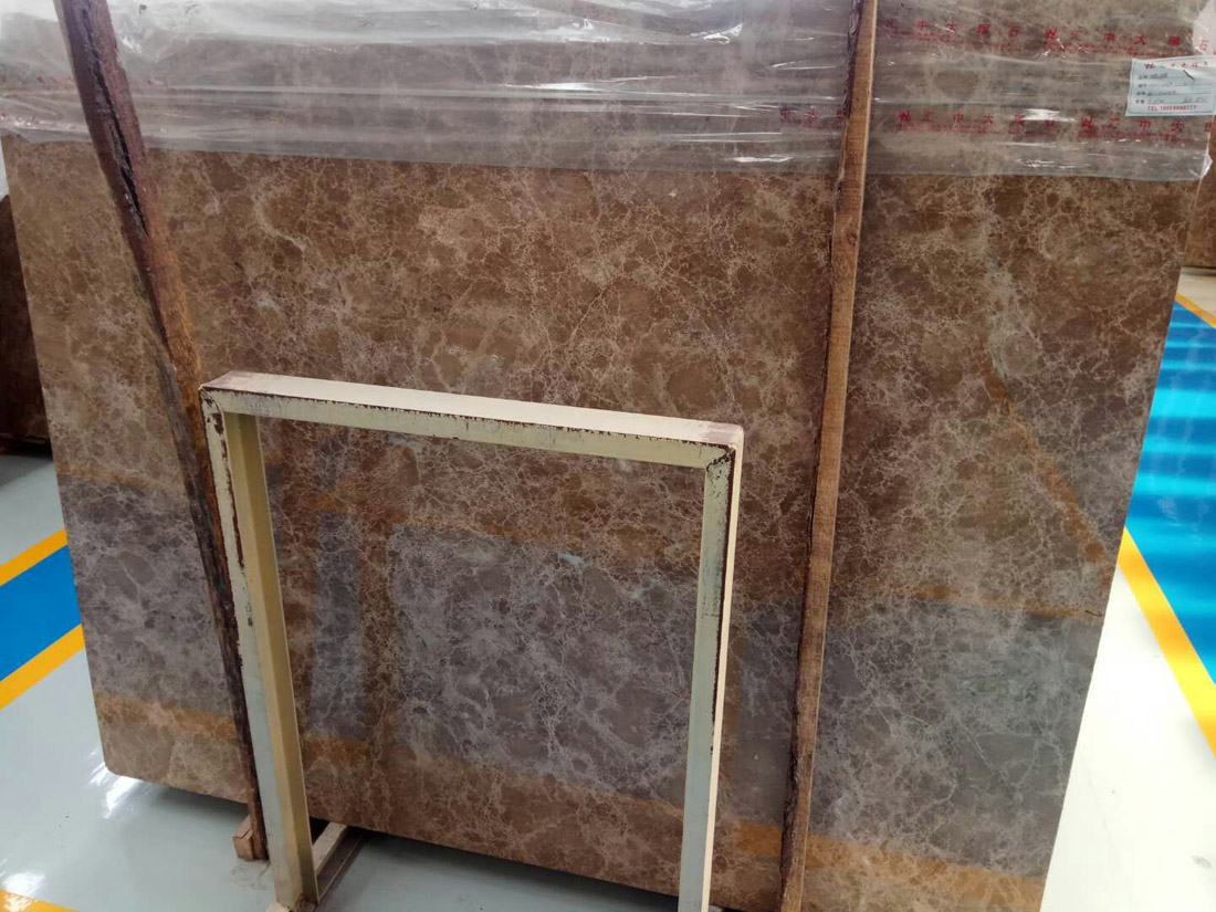 Crystal Light Emperador Marble Slabs Polished Brown Slabs