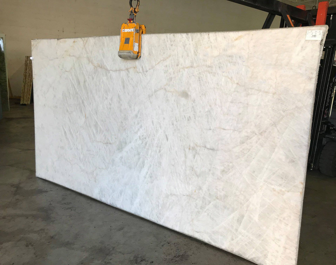 Crystal Quartzite Polished White Quartzite Slabs
