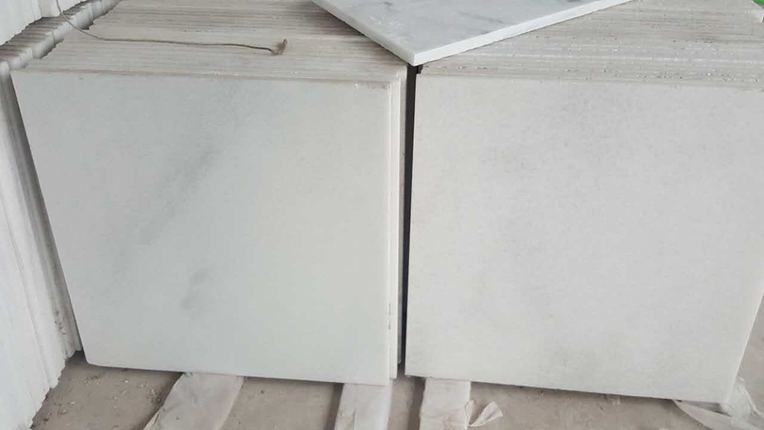 Crystal White Marble Stone Flooring Marble Tiles