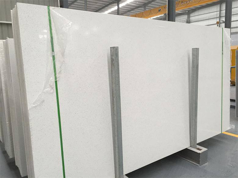 Crystal White Quartz Stone Slab