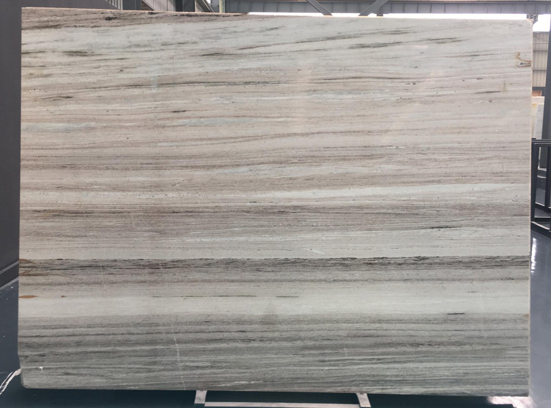 Crystal Wood Vein Stone Slab Polished White Marble Slabs