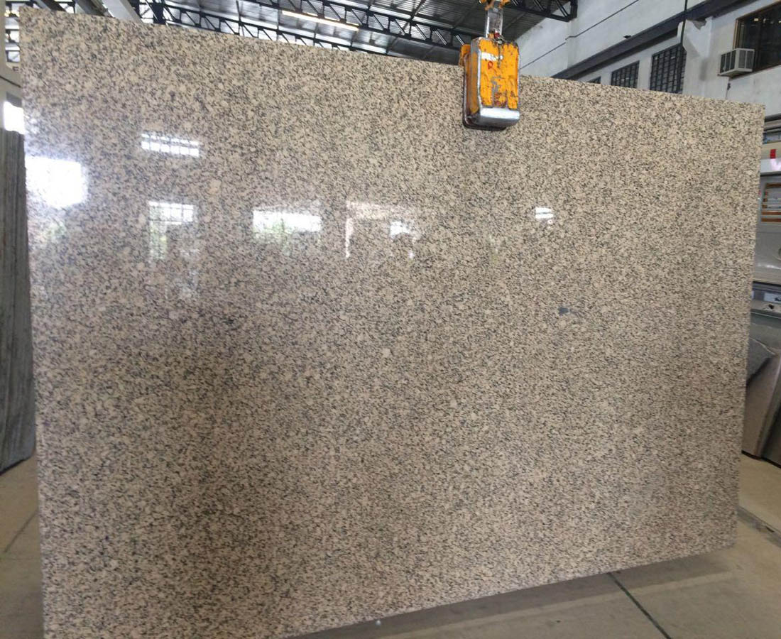 Crystal Yellow Granite Slabs Polished Yellow Granite Slabs
