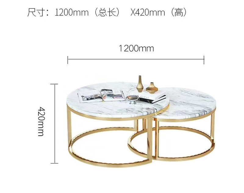Customize Marble Table Tops with Steel Frame