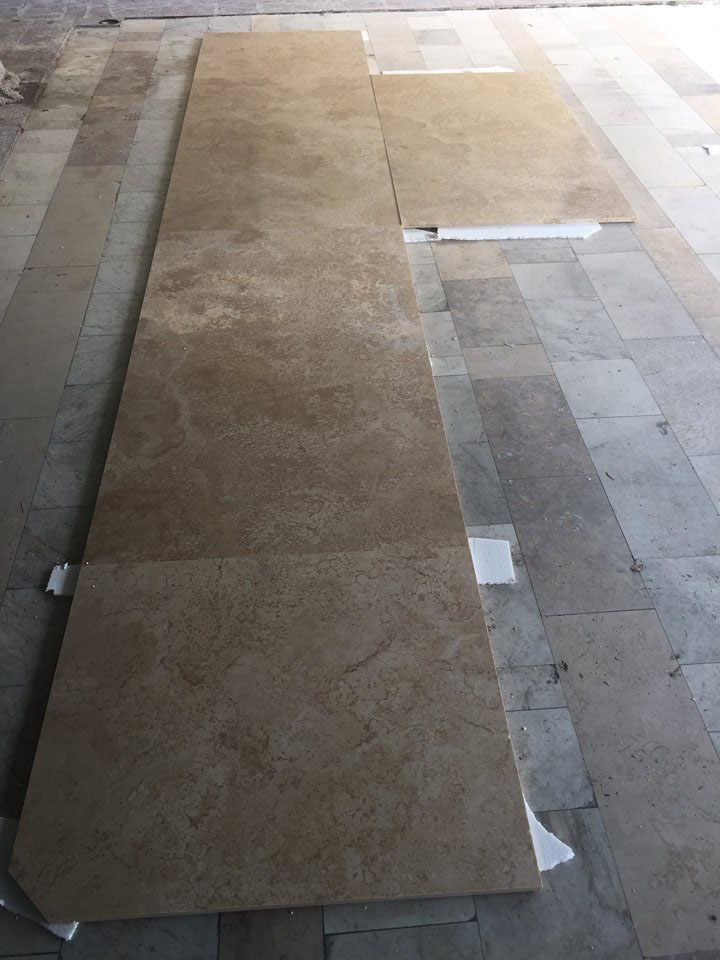 Cutting Travertino Classico Romano Brown Travertine Tiles