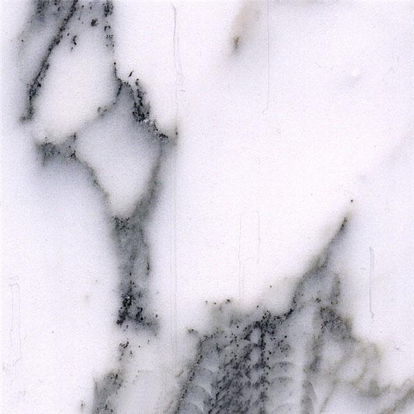 Cyan Flower White Marble
