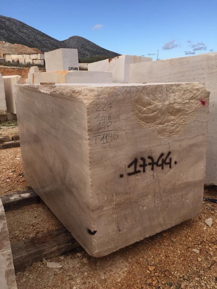 Daino Block Italian Beige Marble Blocks