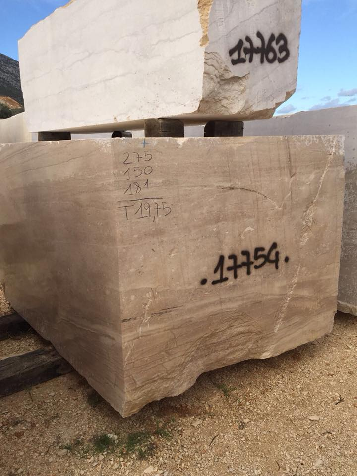 Daino Block Natural Beige Marble Blocks