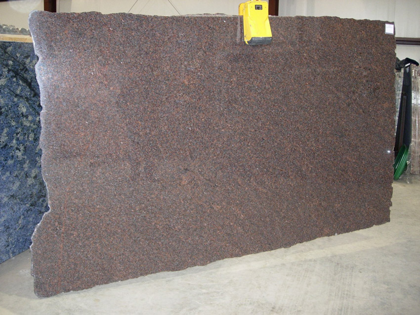 Dakota Mahogany Granite Slabs Polished Brown Granite Stone Slabs