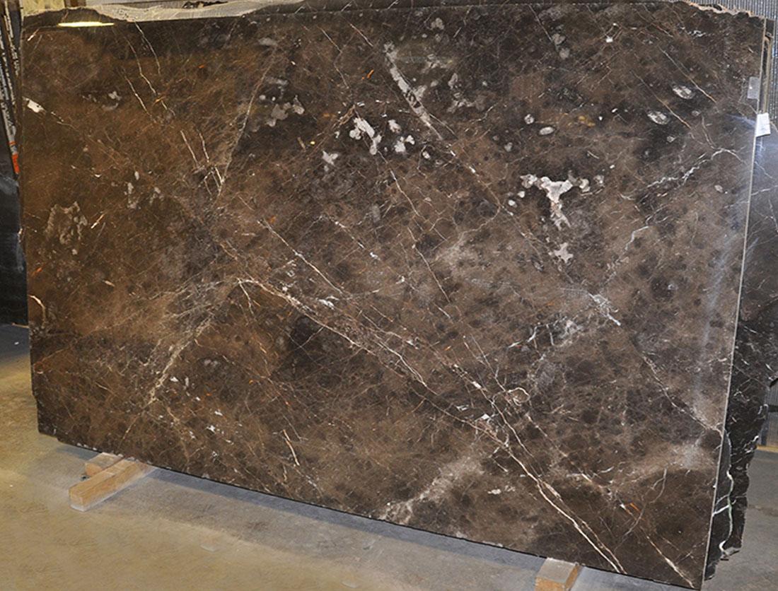 Dark Emperador 2cm Polished Marble Slabs for Vanity Tops
