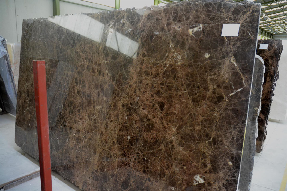 Dark Emperador Pilished Slabs