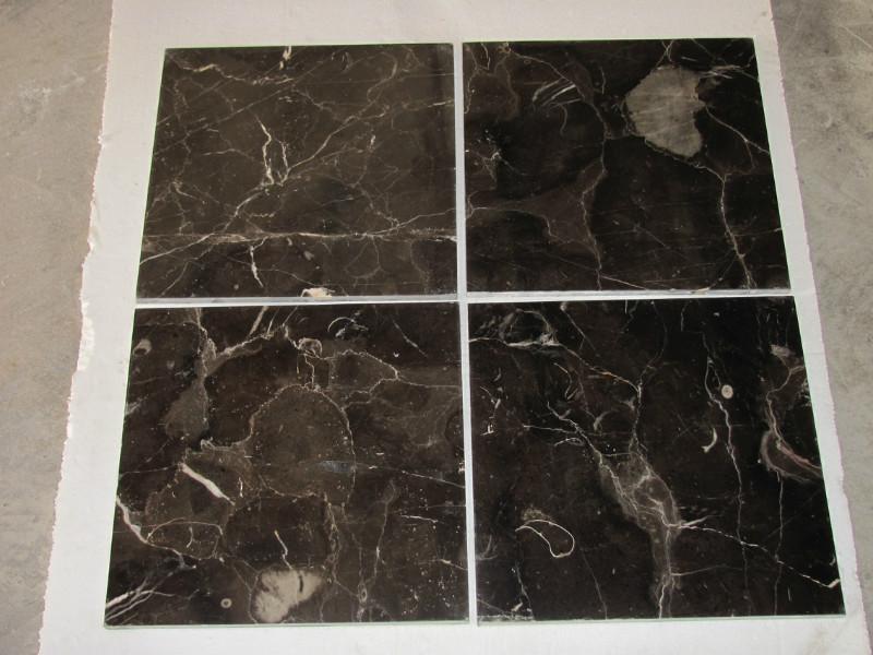 Dark Emperador Polished Brown Marble Tiles