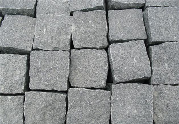 Dark Granite Cube Stone
