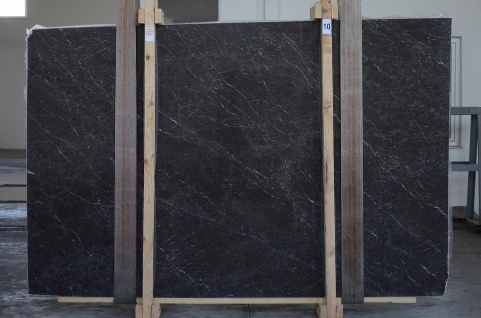 Dark Grey Marble Slab Turkish Grey Polished Slabs