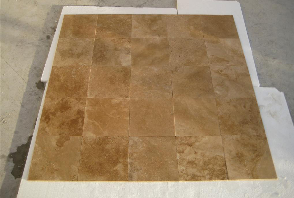 Dark Walnut Unfilled Honed Travertine Tiles for Flooring