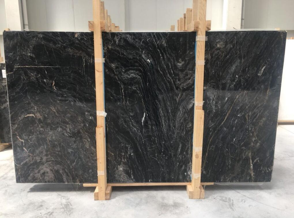 Dark Wave Marble Stone Slabs Turkish Grey Marble Slabs