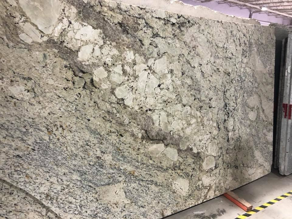 Delicatus White Brazilian White Granite Slabs